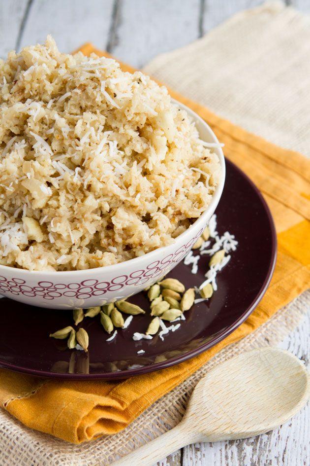 A healthy and creative take on the classic pilaf side dish: Coconut Cauliflower Rice