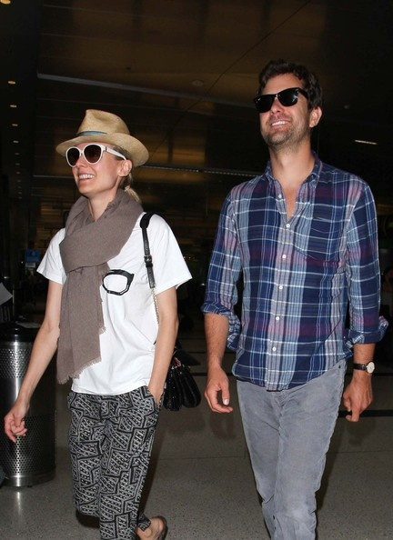 Actress Diane Kruger And Beau Joshua Jackson Touch Down At LAX