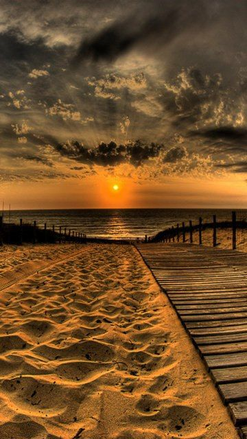 Happiness is watching the sunset and sunrise, for hopes of a better tomorrow...