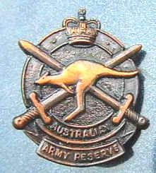 Australian Army Reserve Lapel Badge