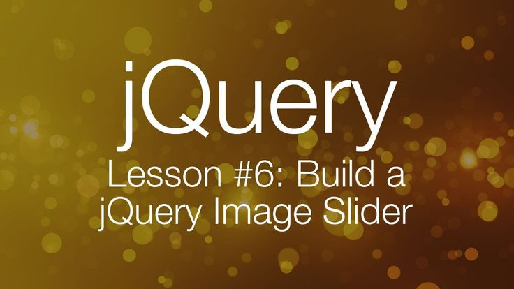 Javascript jQuery Tutorial Part 6 - building a jQuery image slider In this jQuery Tutorial, we're going to be building a jQuery Image Slider Widget.