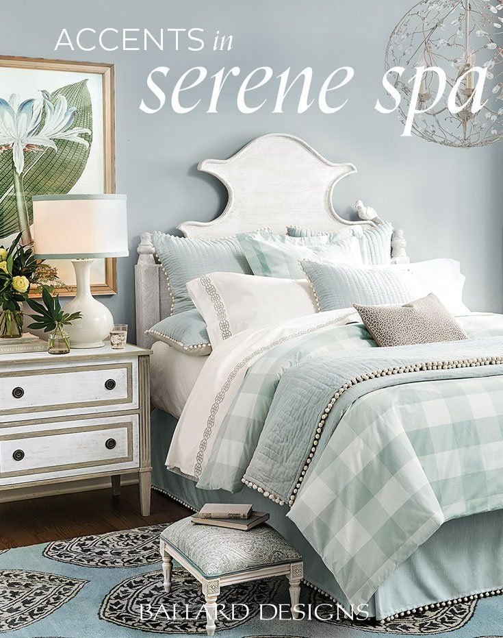 Home decor accents in shades of pale blue | Bedroom design ...