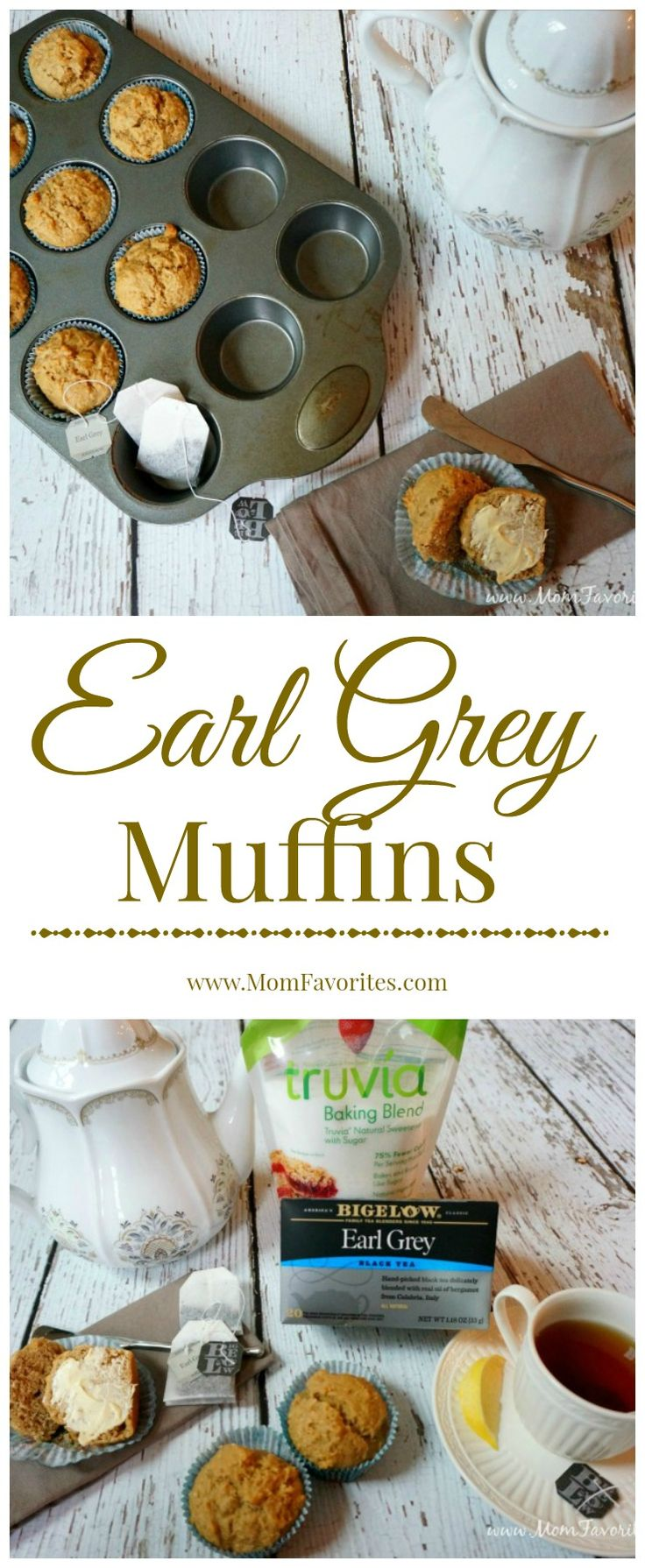 Hitting your afternoon slump? Try this recipe for Earl Grey Muffins. Made even lighter with Truvia Baking Blend! #ad #sweetwarmup