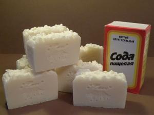 Хозяйственное мыло с содой своими руками