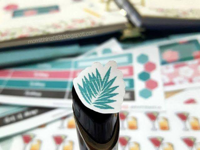 Decorative Hibiscus Leaf Planner Sticker