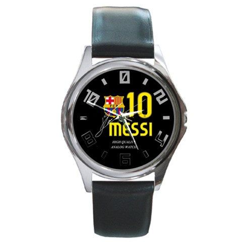 Leonel Messi barca design round metal watch by awrelieaccessories