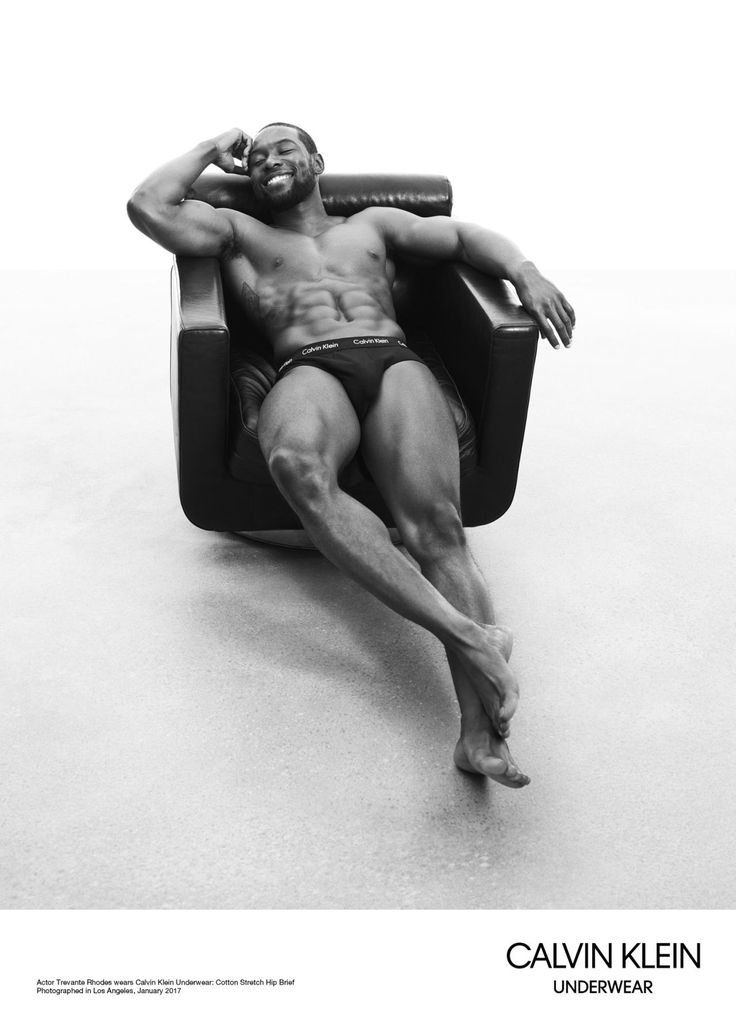 HOLY WHAT? OH MY, YES! Actor Trevante Rhodes wears Calvin Klein underwear, January 2017   The Oscar-Winning Cast of 'Moonlight' Just Landed a Calvin Klein Underwear Campaign