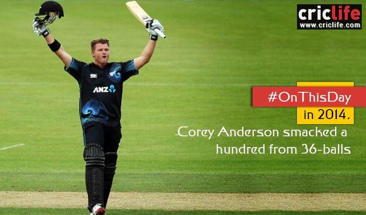 Video: When Corey Anderson re-wrote a record after more than 17 years | News and Gossip on Cricket Players at Criclife.com