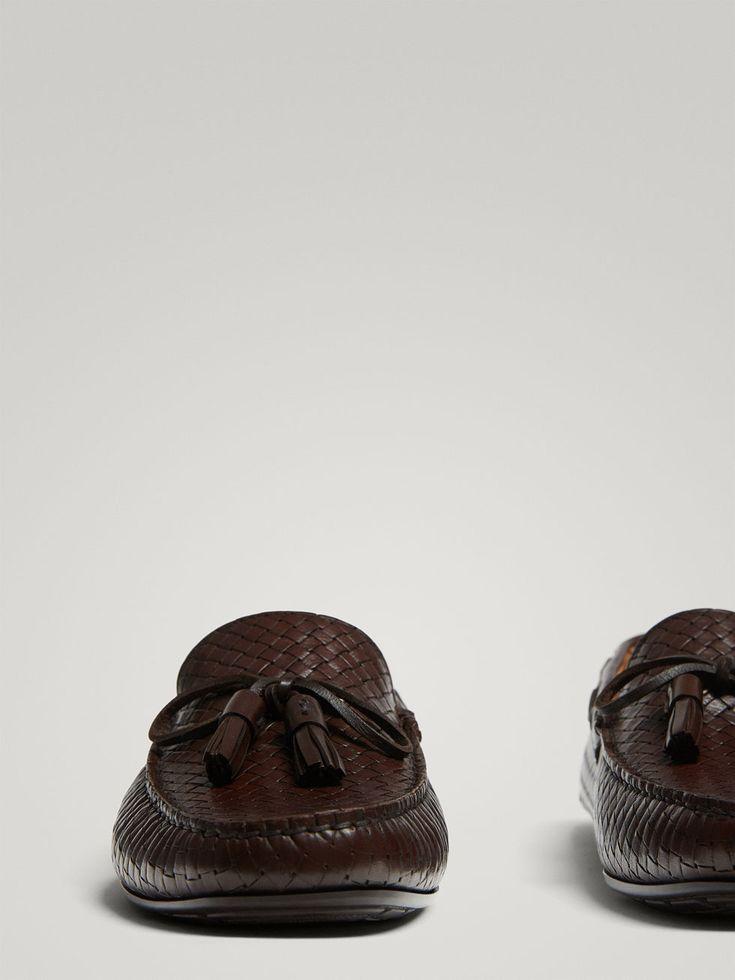 MOCASÍN KIOWA PIEL TRENZADO MARRÓN de HOMBRE - Zapatos - Ver todo de Massimo Dutti de Otoño Invierno 2017 por 79.95. ¡Elegancia natural!