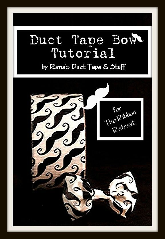 Bow tie Duct Tape Bow Tutorial - The Ribbon Retreat Blog  For those who don't wear their Kentucky Derby attire, they will be given a PINK bow tie! :) #Kentucky_Derby #bow_tie