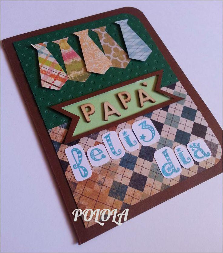 Tarjeta hecha a mano. Trabajo artesanal. Día del padre Tamaño: 6¨x4,5¨ Ref: tcep02
