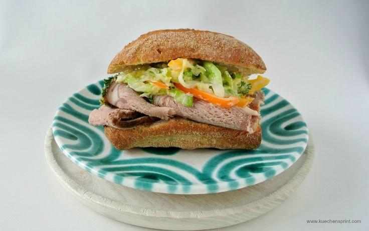 Resteküche: Roastbeef Sandwich mit Coleslaw