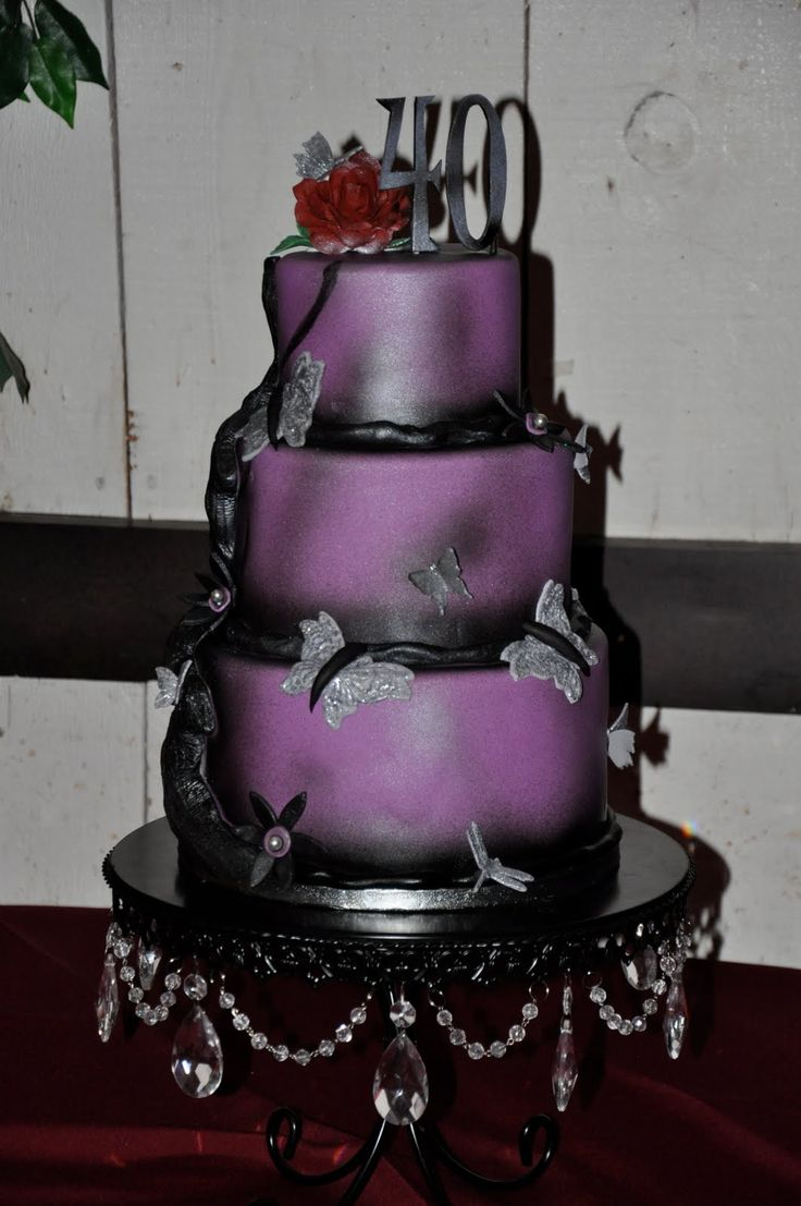 104 Best Images About Purple Wedding Cake On Pinterest