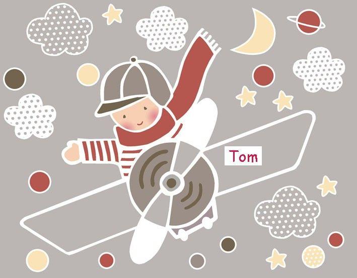 M s de 1000 ideas sobre dibujo de un avion en pinterest for Vinilos infantiles nino