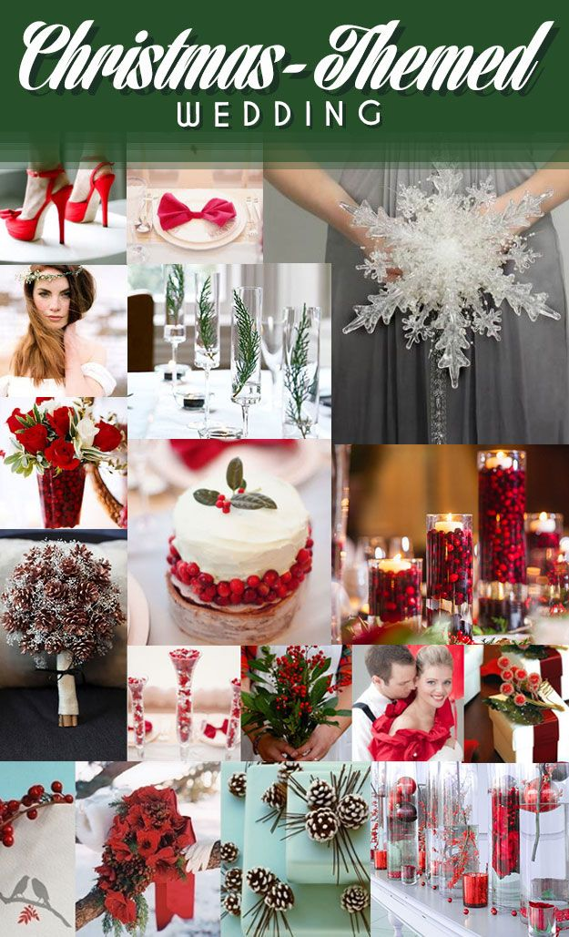 check out the Christmas themed wedding. Love the pinecone bouquet. Would be cheap too! Also the cranberry centerpieces with candles. Inexpensive and simple but still looks super classy