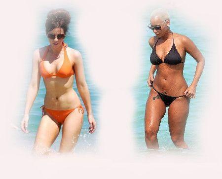 bikini, Kate Beckinsale VS Amber Rose fashion diva who-wore-it-better celeb celebrity