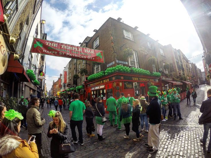Temple Bar St Patrick's Day Dublin
