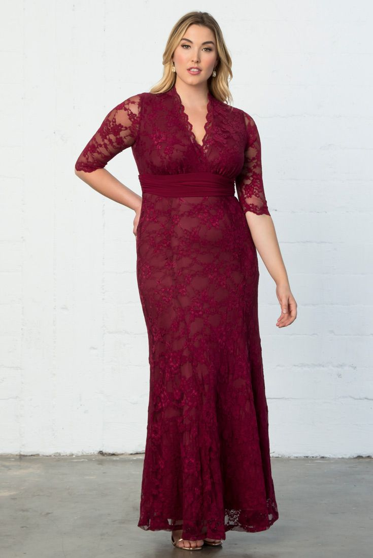 efa9cbe0ddb You ll look dazzling at your holiday gala in our plus size Screen Siren  Lace Gown. This gorgeous dress features soft