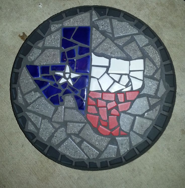 Mosaic Texas Stepping Stone I Designed It With Broken