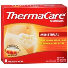 Just found these at the store:  ahhhmazing relief for us working ladies that can't pack around a heating pad for those heavy days.  FYI - another thing that helps with cramps (I get them real bad) Imodium multi-symptom.