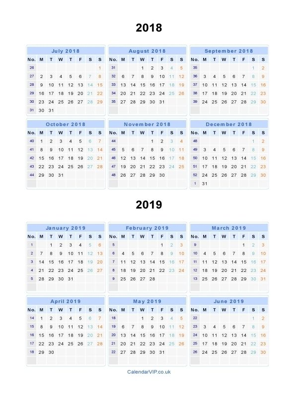 Split Year Calendars 2018 2019 June Calendar Printable Calendar Printables School Calendar