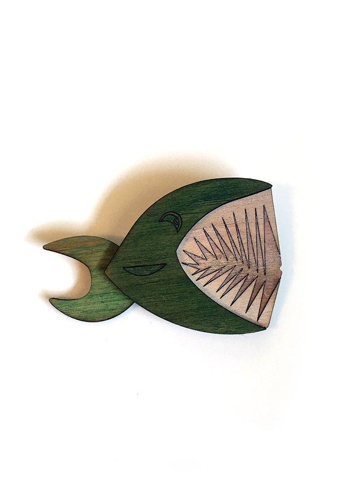 Monster Tiki Island Piranha Brooch
