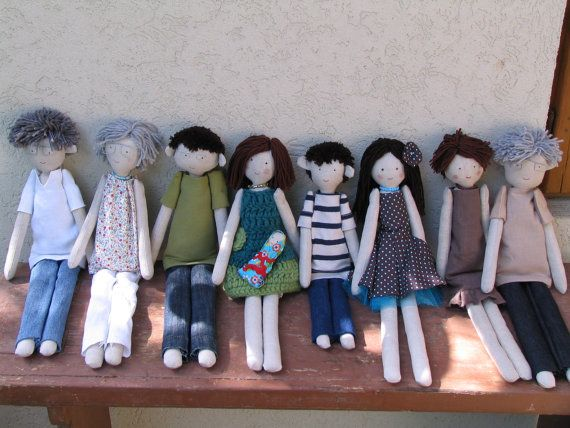 Family doll family rag doll custom personalized by apacukababa