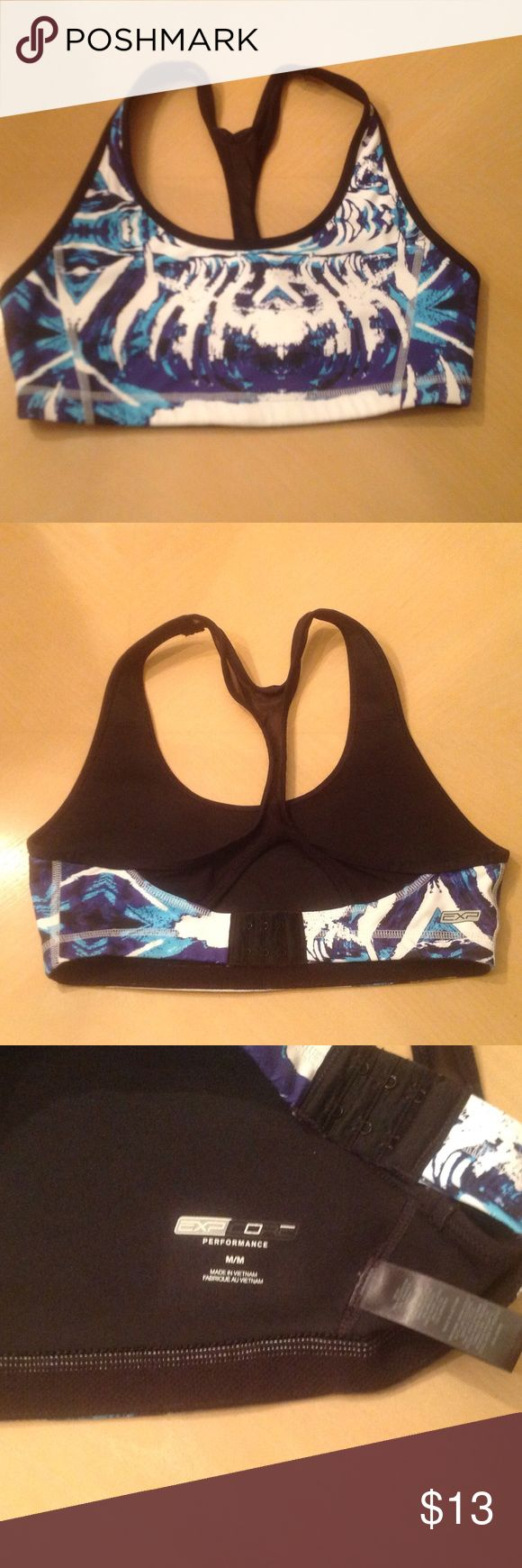 Express sports bra Blue and white sports bra from Express. New without tags. Express Intimates & Sleepwear Bras