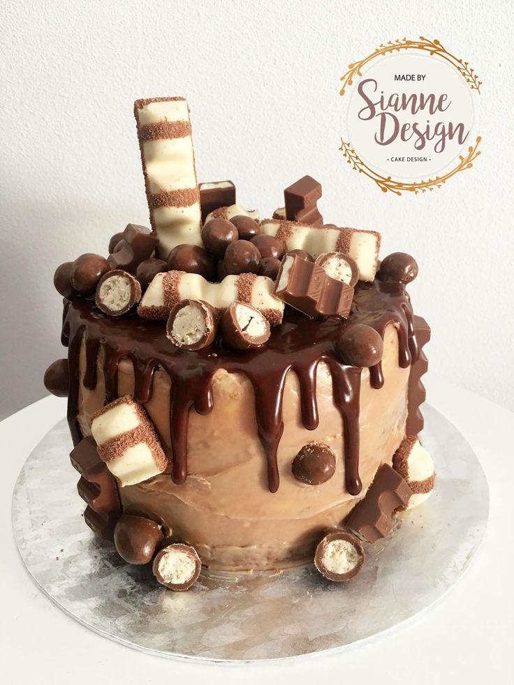 Chocolate Layer Drip Cake Kinder Bueno Malteser Kinder