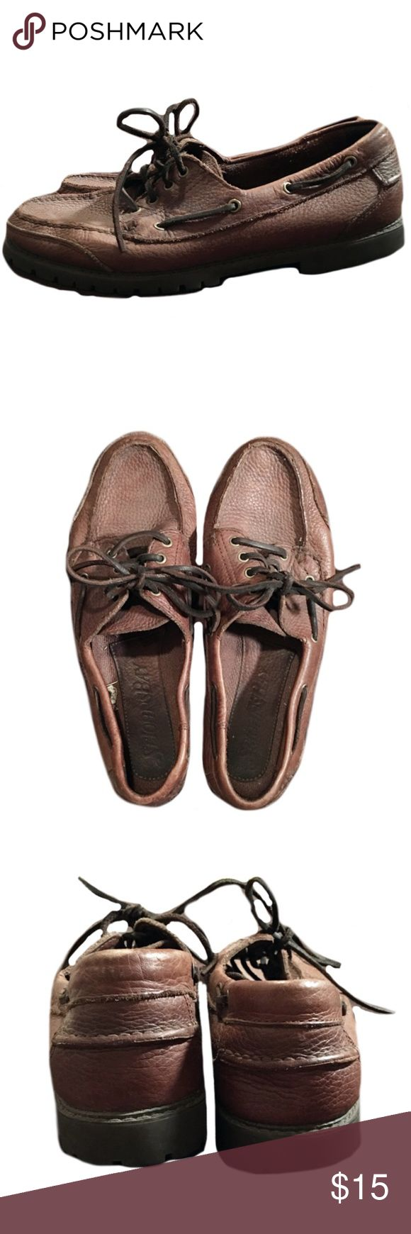 St. John's Bay Men's Brown Loafers ◾️Gently used men's St. John's Bay brown loafers. ◾️Size 11 ◾️Leather strings to tie shoes St. John's Bay Shoes Loafers & Slip-Ons
