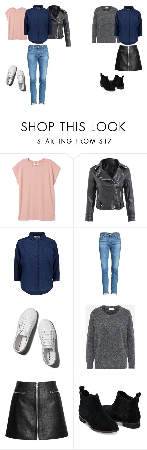 """""""howtolayerdenim"""" by phuongn-1 on Polyvore featuring AG Adriano Goldschmied, Abercrombie & Fitch en TOMS"""