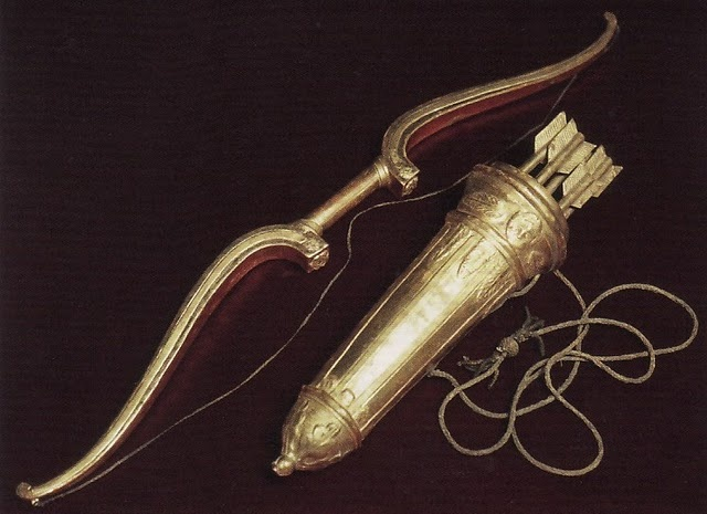 Golden bow and quiver. | Gold | Pinterest | Golden bow and ... Gold Bow And Arrow