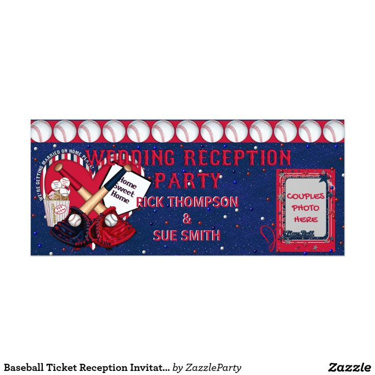 SOLD! Thank  you to my buyer! Baseball Ticket Reception Invitation-TEMPLATE Card #baseball #ticket #invitations