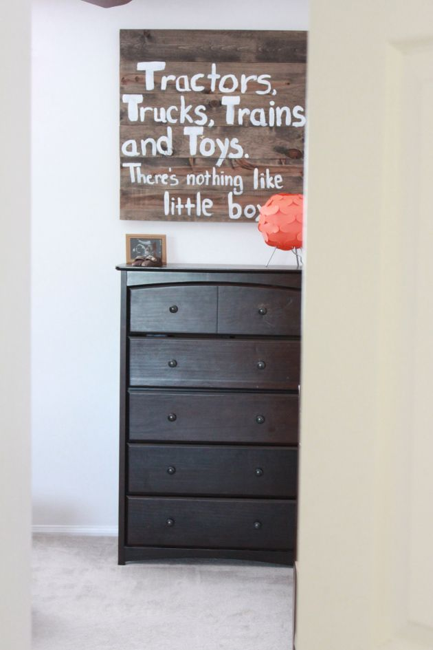 DIY sign for baby boy's room - like the saying, fits Charlie so well