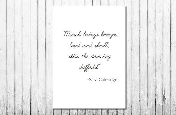Digital Download Quote, Minimalist, Sara Coleridge, Black and White, Downloadable Wall Art, Cheap, Affordable