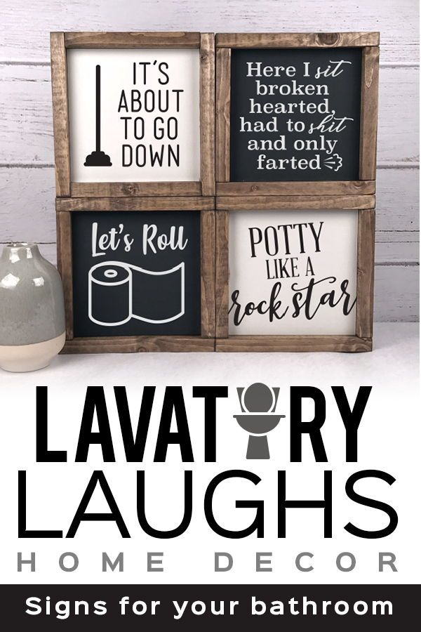 Each Of Our Linden Fields Farmhouse Bathroom Signs Are Designed And Handmade In Our Home Studio Bathroom Signs Farmhouse Bathroom Personalized Farmhouse Sign