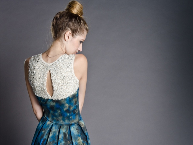 Hand beaded and painted dress   Worn by Vicky  Photographed by Pierre de Villiers   http://marethcolleen.blogspot.com