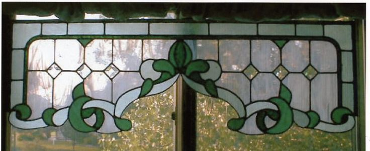 this is a glass window valence I made for my sister.