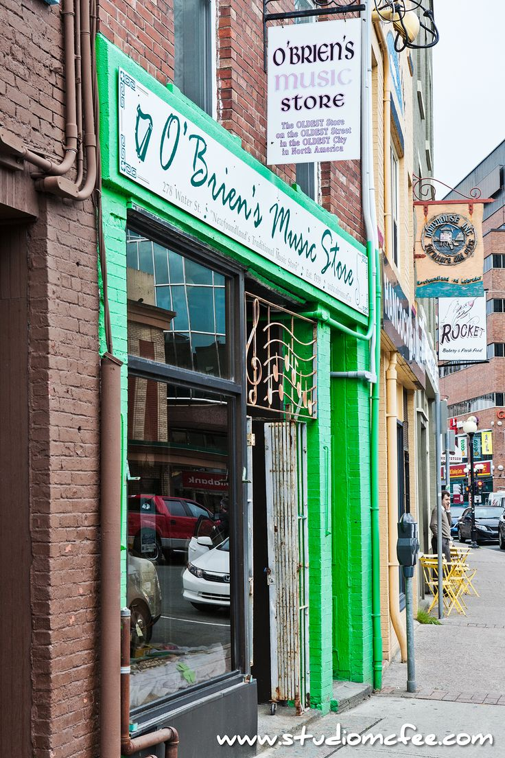 O'Brien's Music in St. John's Newfoundland - The OLDEST Store on the OLDEST Street in the OLDEST City in North America