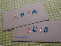 Wachsbuchstaben rosa / blau Glitzer(N)