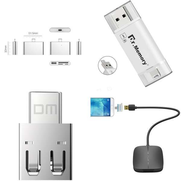 1x Memory Card Reader//Writer Adapters To USB 20 Flash for Micro SD SDHC SDXC