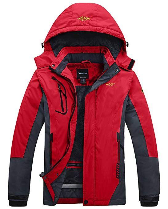 acca953ad976 Wantdo Men s Mountain Outdoorwear Fleece Windproof Ski Jacket Review ...