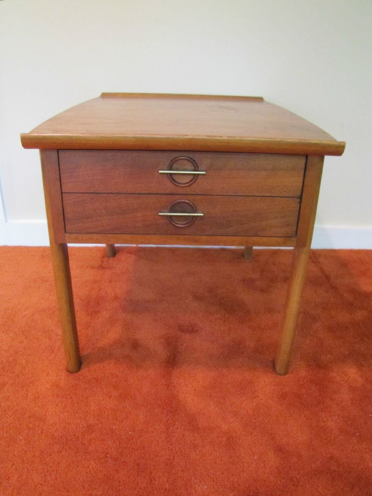Mid Century Modern Lane Side Table, End Table, Retro Lane Side Table with Drawer, Lane Nightstand by CapeCodModern on Etsy