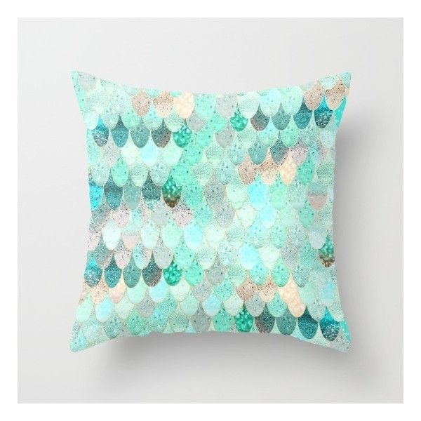 SUMMER MERMAID Throw Pillow ($17) ❤ Liked On Polyvore Featuring Home, Home  Decor