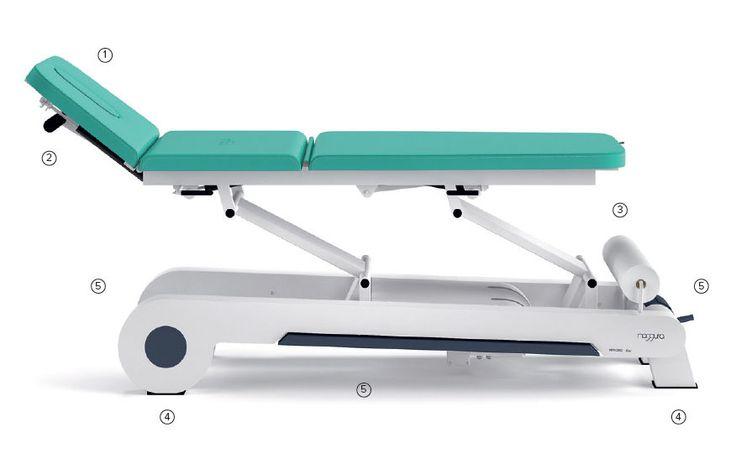 Lettino fisioterapia osteopata elettrico 3 segmenti 1 motore multpli posizioni