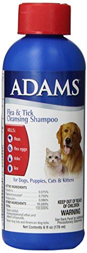 This cleansing shampoo kills fleas flea eggs ticks* and lice. Very useful in cleansing and also deodorizes. Can be used for dogs puppies cats and kittens. *Brown Dog ticks & American Dog Ticks...