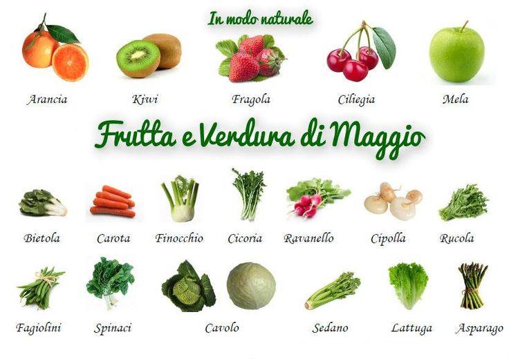 frutta e verdura di stagione: MAGGIO