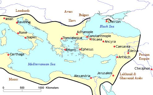 The Byzantine Empire was ultimately influenced by Catholicism. This empire had a high level of political, economic, and cultural life. The empire followed many Roman patterns and spread Orthodox Christianity throughout most of eastern Europe. Two separate civilizations formed by the two Christian influences, Catholic Christianity and Orthodox Christianity.
