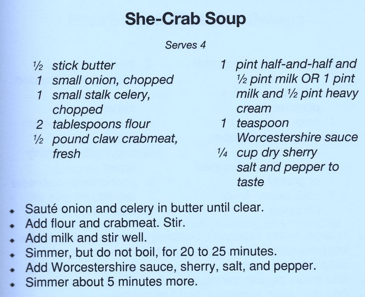 she crab soup & shrimp and grits recipes