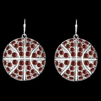Beautiful blinged out basketball earrings from T.I.S. College Bookstore @ Indiana University